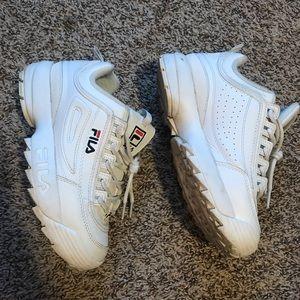 Fila disruptor II sneaker women size 7 white